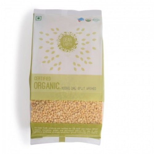 Dear Earth Organic Moong Dal Split Washed (Moong Mogar)