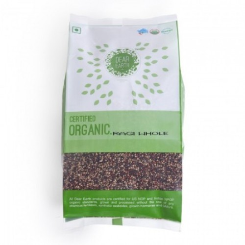 Dear Earth Organic Pearl Millet ( Ragi), 500 GM