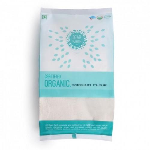 Dear Earth Organic Sorghum (Jowar) Flour, 500 GM