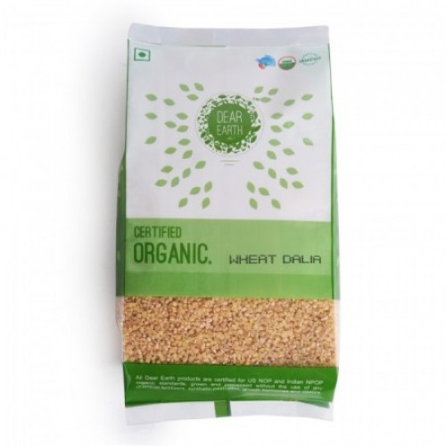 Dear Earth Organic Wheat Dalia, 500 GM