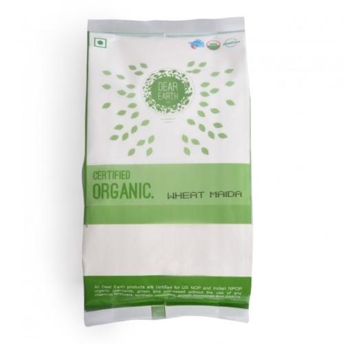 Dear Earth Organic Wheat Maida, 500 GM
