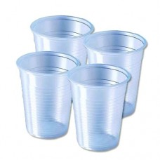 Disposable Water Glass - White Transparent , Pack Of 70 Pcs