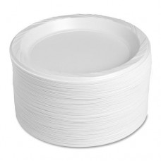 Disposable Plates - White , Pack Of 48 Pcs