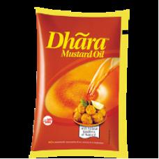 Dhara Mustard Oil - Kachi Ghani , 1 Lt Pouch