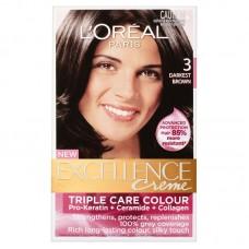 Loreal Excellence Creme Color - Darkest Brown 3