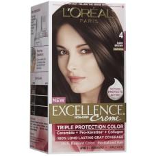 Loreal Excellence Creme Color - Dark Brown 4
