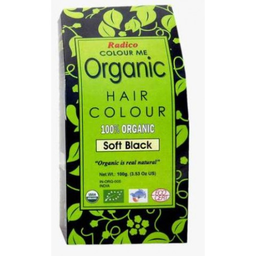 Radico Organic Hair Colour - Soft Black,  100 GM