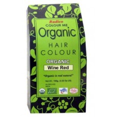 Radico Organic Hair Colour - Wine Red, 100 GM