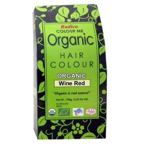 Radico Organic Hair Colour - Wine Red, 100 GM