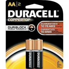Duracell Alkaline Battery - AA , 2 Pc Pack