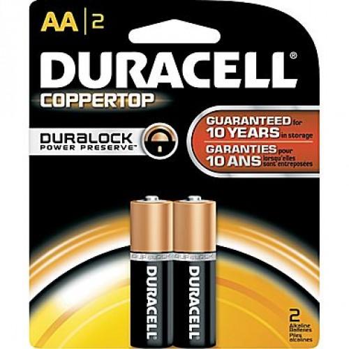 Duracell Alkaline Battery - AA , 2 Pc Pack