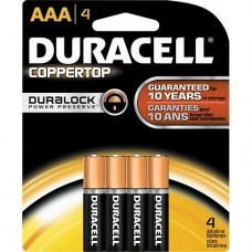 Duracell Alkaline Battery - AAA , 4 Pc Pack