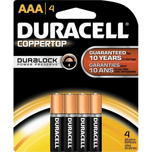 Duracell Alkaline Battery - AAA , 4 Pc Pack