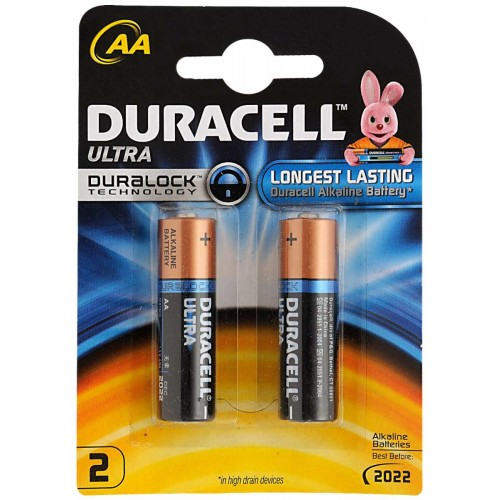 Duracell Ultra Battery - AA , 2 Pc Pack