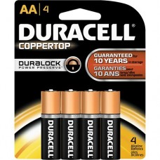 Duracell Alkaline Battery - AA , 4 Pc Pack
