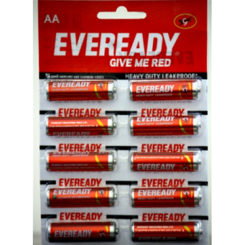 Eveready Red - AA , Pack Of 10 Pcs
