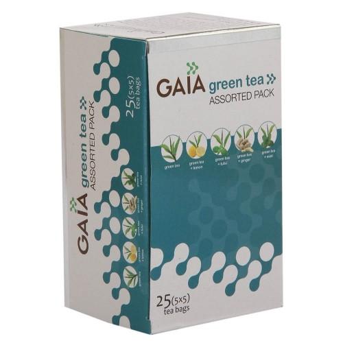 Gaia Green Tea - Assorted Pack , 25 Tea Bags