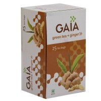 Gaia Green Tea - Ginger, 25 Tea Bags