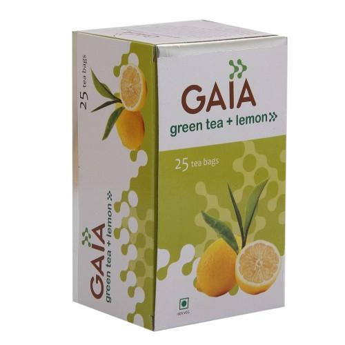 Gaia Green Tea - Lemon , 25 Tea Bags