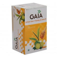 Gaia Green Tea - Honey & Lime , 25 Tea Bags