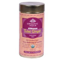 Tulsi Organic Tea -  Ginger , 100 GM Tin