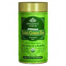 Tulsi Organic Green Tea -  Original , 100 GM Tin