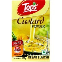 Tops Custard Powder - Kesar Elaichi