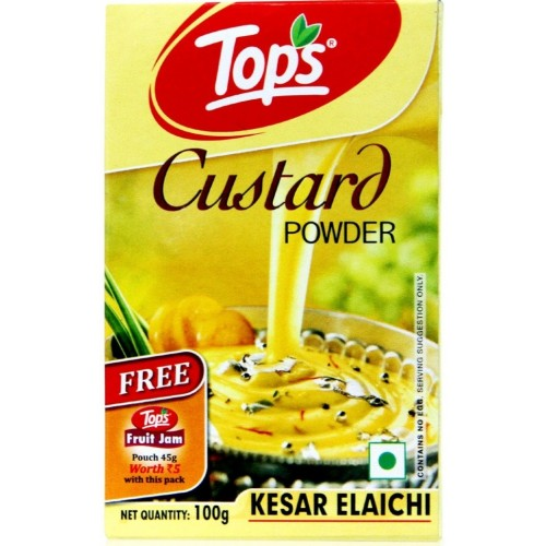 Tops Custard Powder - Kesar Elaichi