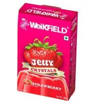 Weikfield Jelly Crystals - Strawberry , 90 Gm Pack