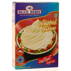 Blue Bird Instant Topping - Whipped Cream , 50 Gm Pack