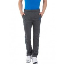 Jockey Charcoal Melange & Neon Blue Active Track Pants