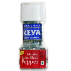 Keya Black Pepper Grinder - Malabar Extra Black , 40GM
