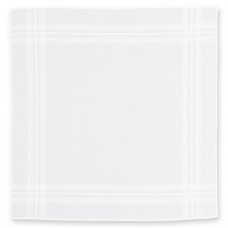 Handkerchief  White Cotton , Pack Of 3
