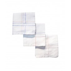 Handkerchief Coloured Lines Cotton , Pack Of 3