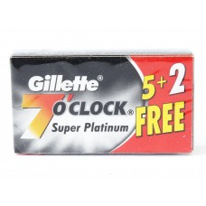 Gillette Shaving Blades - 7o Clock Super Platinum
