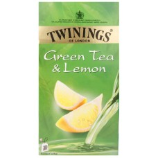 Twinings Green Tea - Lemon , 25 Tea bags