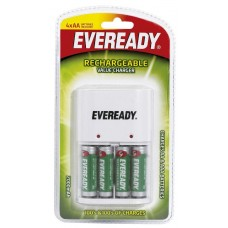 Eveready - Rechargeable Battery AA (With Charger), Pack Of 4 PCs
