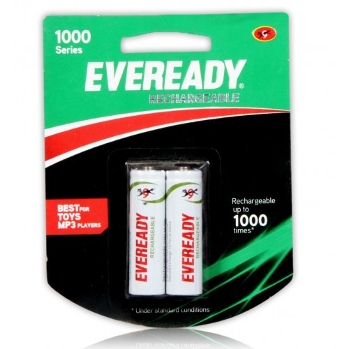 Eveready - Rechargeable Battery AA, Pack Of 2 PCs